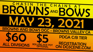 Chasin the Chains at Browns and Bows-presented by Dynamic Discs graphic