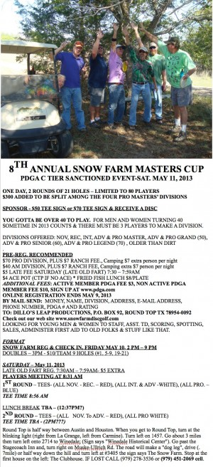 8th Annual Snow Farm Master Cup 2013 graphic