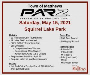 Town of Matthews PAR2 Tournament graphic