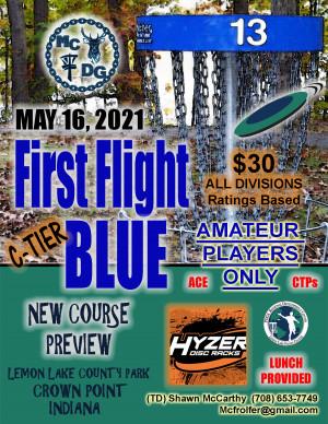 First Flight Blue graphic