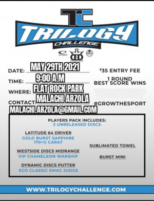 Trilogy Challenge at The Rock presented by Dynamic Discs graphic