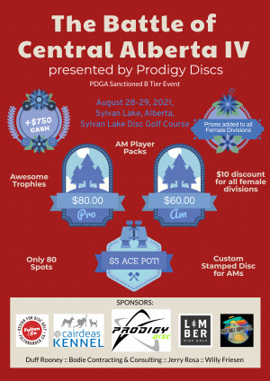 The Battle of Central Alberta IV presented by Prodigy Discs graphic