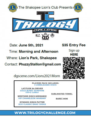 Trilogy Challenge - Lions Park 1 Shakopee - Saturday Morning graphic