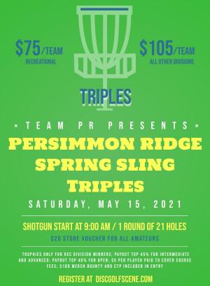Persimmon Ridge Spring Sling Triples graphic