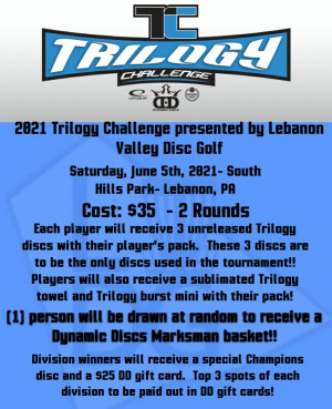 2021 Trilogy Challenge presented by Lebanon Valley Disc Golf graphic