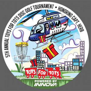 5th Annual Toys for Tots Tourney in Memory of Captain Herb Presented by WSB Radio and Innova Discs graphic