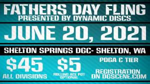 Fathers Day Fling-presented by Dynamic Discs graphic
