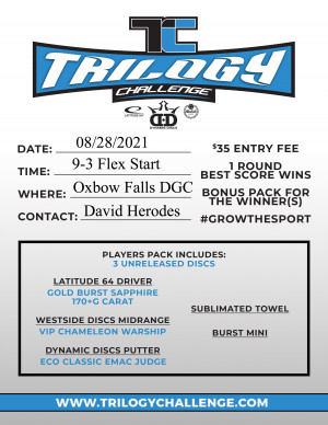 2021 Trilogy Challenge at Oxbow Falls DGC graphic