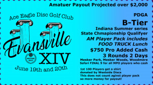 Evansville Open XIV sponsored by Westside Discs graphic