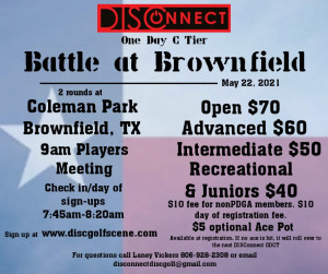 DISConnect One Day C Tier/Battle at Brownfield graphic
