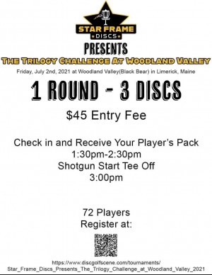 Star Frame Discs Presents The Trilogy Challenge at Woodland Valley (Black Bear) graphic