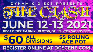 The Clash presented by Dynamic Discs - Adv/Age-Protected graphic