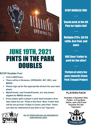 Pints in the Park Doubles graphic