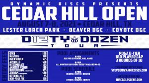 Dynamic Discs Presents The Cedar Hill Open graphic