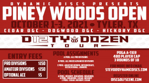 Dynamic Discs Presents the Piney Woods Open graphic