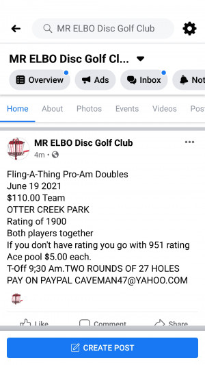Fling-A-Thing Pro-Am Doubles graphic