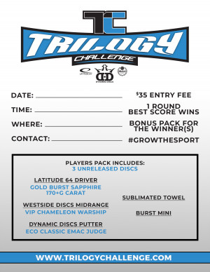 360 DISC GOLF TRILOGY CHALLENGE @ BUD PELL graphic