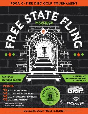 Maverick DG: Free State Fling pres by GRIPeq graphic