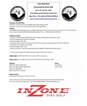 June Bug Open presented by Kwik Stik graphic