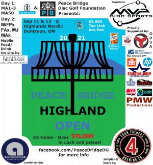 Peace Bridge Highland Open - MA Divs  - 6 spots left! graphic