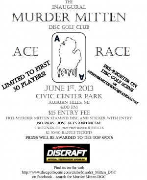 Murder Mitten DGC Ace Race graphic