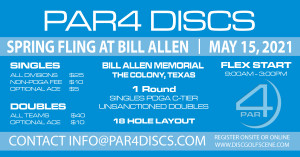 PAR4 Discs Presents the Spring Fling at Bill Allen Memorial Flex graphic