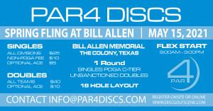 PAR4 Discs Presents the Spring Fling at Bill Allen Memorial Flex - Doubles graphic