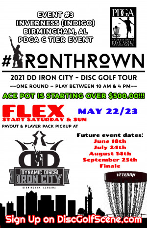 IronThrown Disc Golf Tour- Presented by DD Iron City - Event 3 graphic