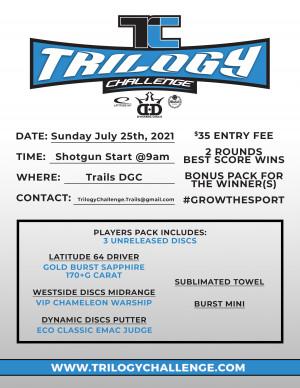 Dynamic Discs Trilogy Challenge 2021 @ Trails DGC graphic