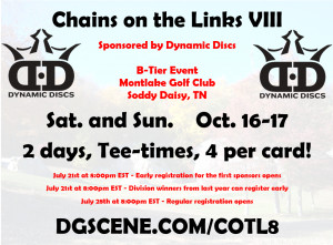 Chains on the Links VIII - Sponsored by Dynamic Discs graphic