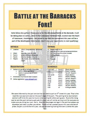 Battle at the Barracks Fore graphic
