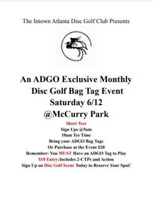 Atlanta Disc Golf Organization Monthly Tournament @McCurry graphic
