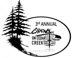 3rd Annual Chains on Cedar Creek graphic