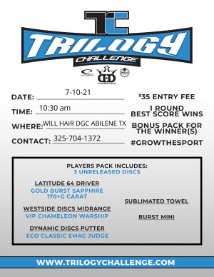2021 Trilogy Challenge - Abilene TX graphic