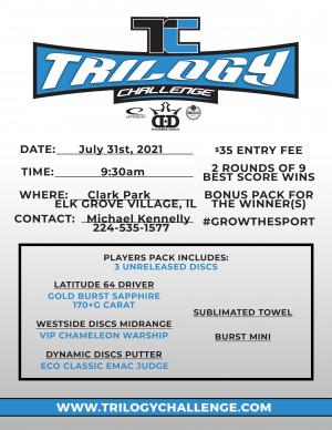 2021 Dynamic Discs Trilogy Challenge @ Clark Park graphic
