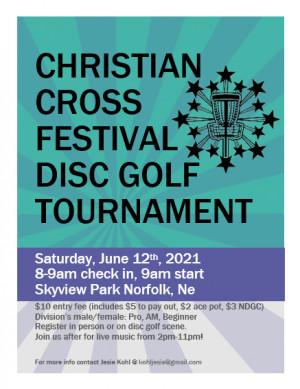 Christian Cross Festival Disc Golf Tournament graphic