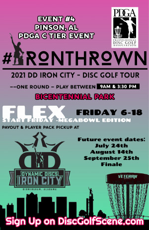 IronThrown Disc Golf Tour- Presented by DD Iron City - Event 4 graphic