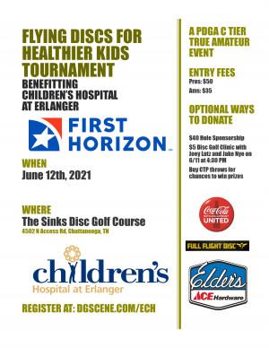 Flying Discs for Healthier Kids Tournament Benefitting Children's Hospital at Erlanger graphic