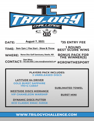 Trilogy Challenge - Norse Disc Golf Sanctuary graphic