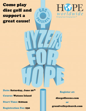 Hyzers for Hope graphic