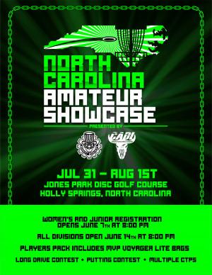 North Carolina Amateur Showcase graphic