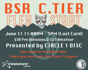 BSR C-Flex Presented by Circle 1 Disc graphic