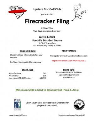 Firecracker Fling: Easley graphic