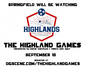 The Highland Games Presented by Discin' Disciples and Trinity Disc Golf graphic