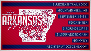 2021 Arkansas Masters Sponsored by Dynamic Discs graphic