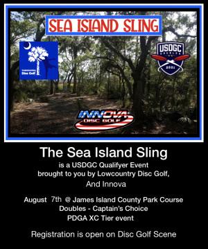 Sea Island Sling - a USDGC qualifier event graphic