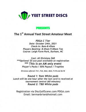 1st Annual Yeet Street Amateur Meet graphic