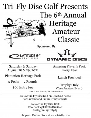 Heritage Amateur Classic presented by Tri-Fly Disc Golf - MA1 & MA2 graphic