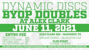 Dynamic Discs BYOP Doubles @ Alex Clark graphic