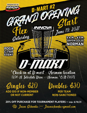 DMART #2 Grand Opening Flex Start, Driven By Innova graphic